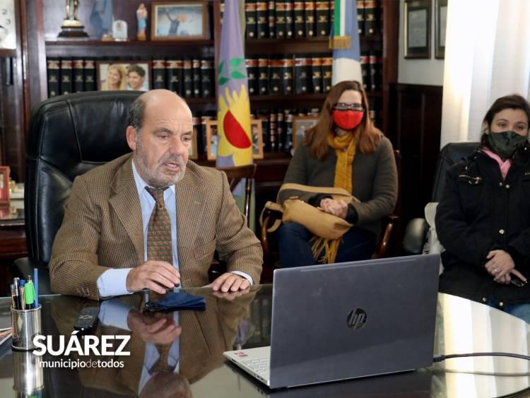 El ministro Jorge Ferraresi encabezó mediante videoconferencia un acto junto al Intendente Ricardo Moccero