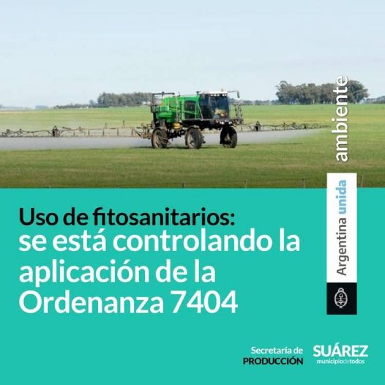 Uso de fitosanitarios: se está controlando la aplicación de la Ordenanza 7404