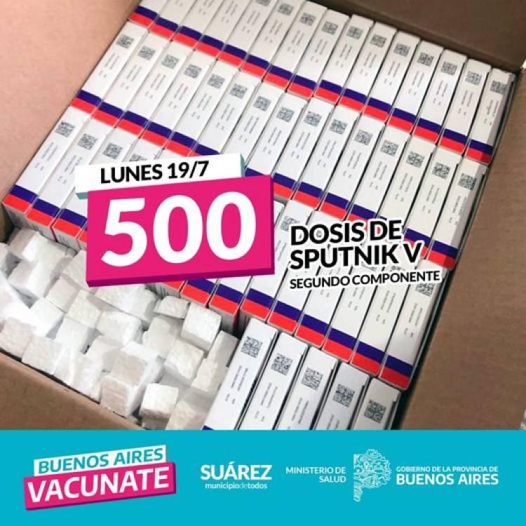 LLEGARON 500 DOSIS DE SPUTNIK V SEGUNDO COMPONENTE