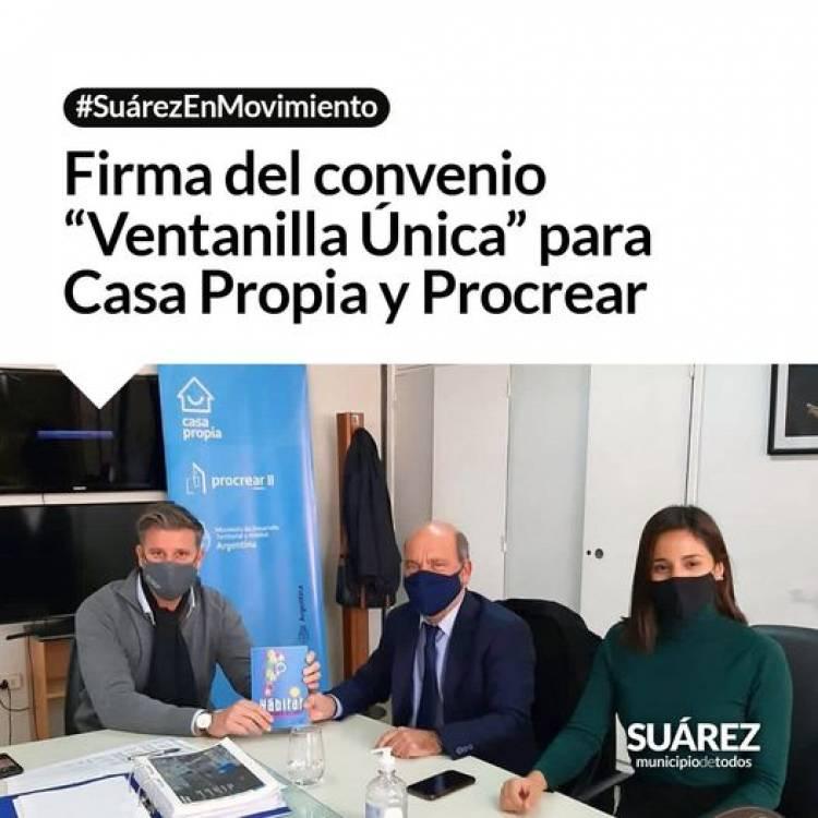 """Firma del convenio """"Ventanilla Única"""" para Casa Propia y Procrear"""