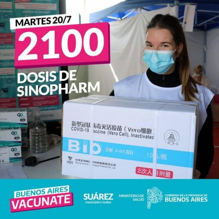 LLEGARON 2100 DOSIS DE SINOPHARM