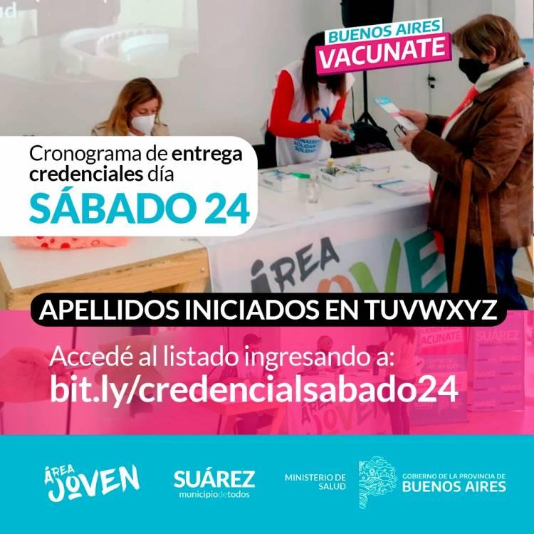 Hoy continúa la entrega de credenciales a personas que registran dosis de vacunación Covid-19⠀