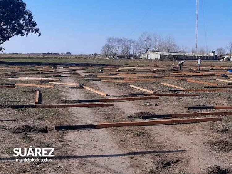 Se inició la construcción de invernáculos en el Parque de Producciones Intensivas