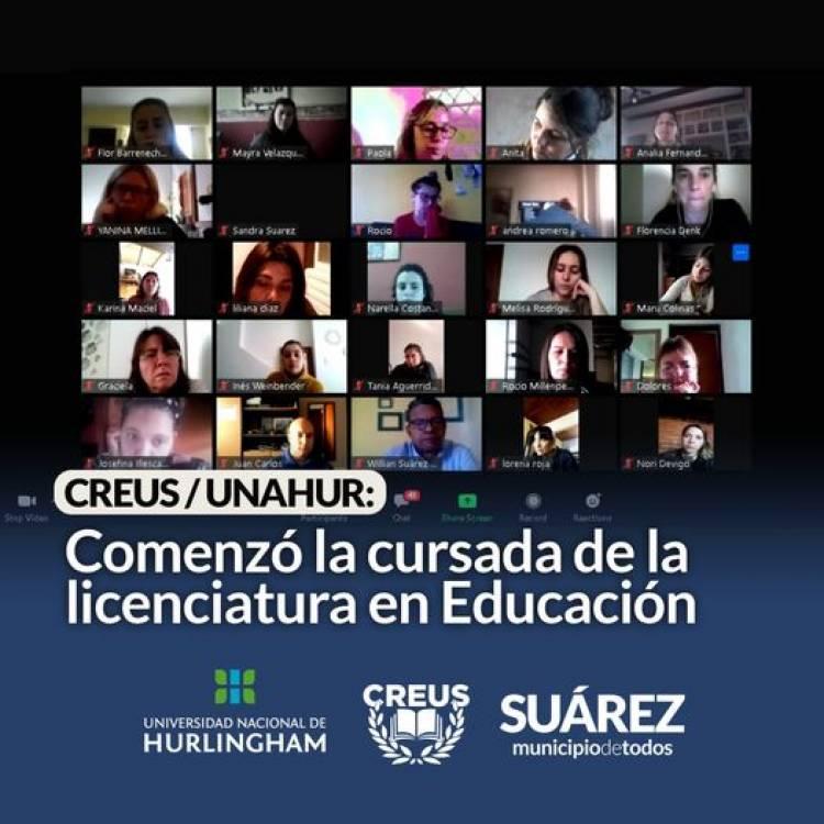 CREUS/UNAHUR: Comenzó la cursada de la licenciatura en Educación