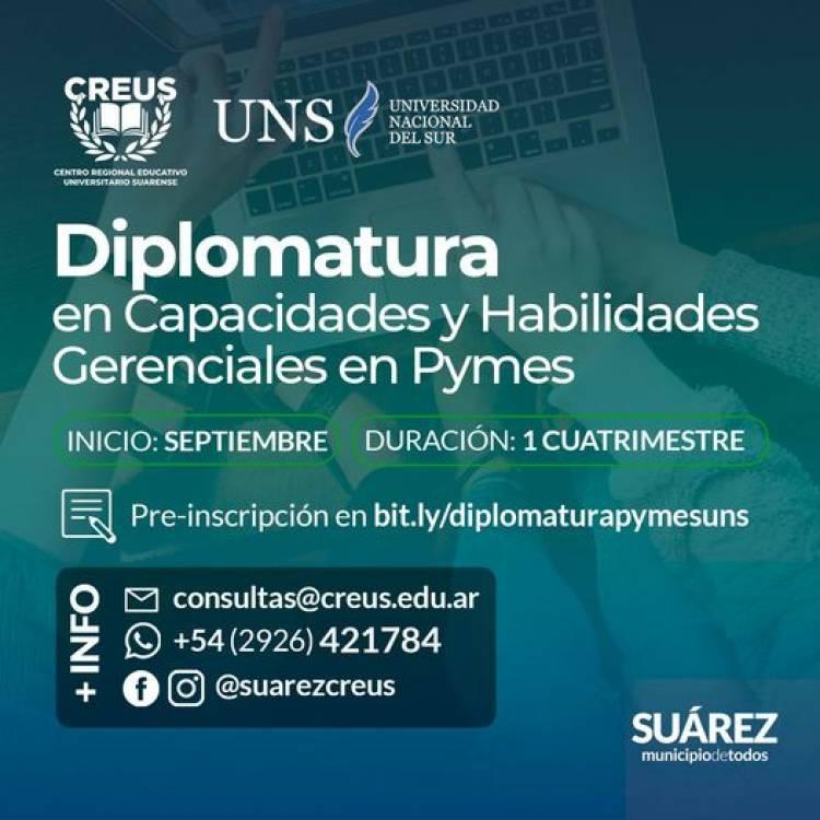 CREUS-UNS: Diplomatura en Capacidades y Habilidades Gerenciales en Pymes⠀