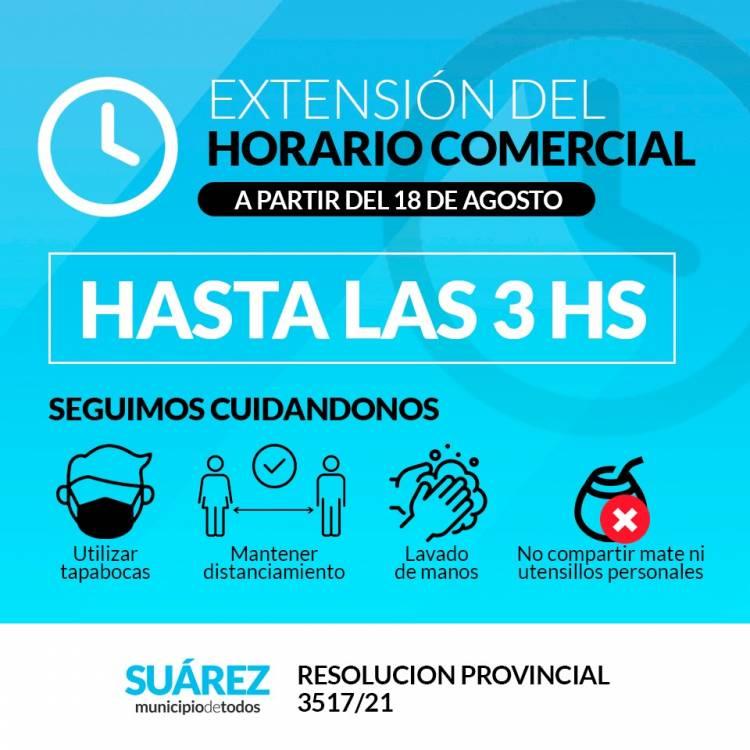 EXTENSIÓN DEL HORARIO COMERCIAL