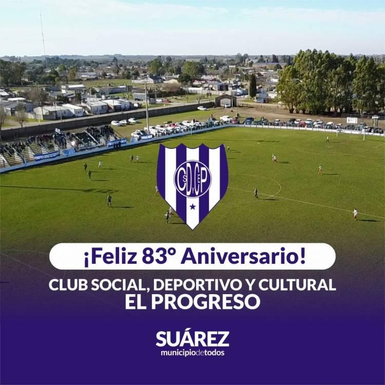 Feliz 83° aniversario club Social Deportivo y Cultural El Progreso de Santa María