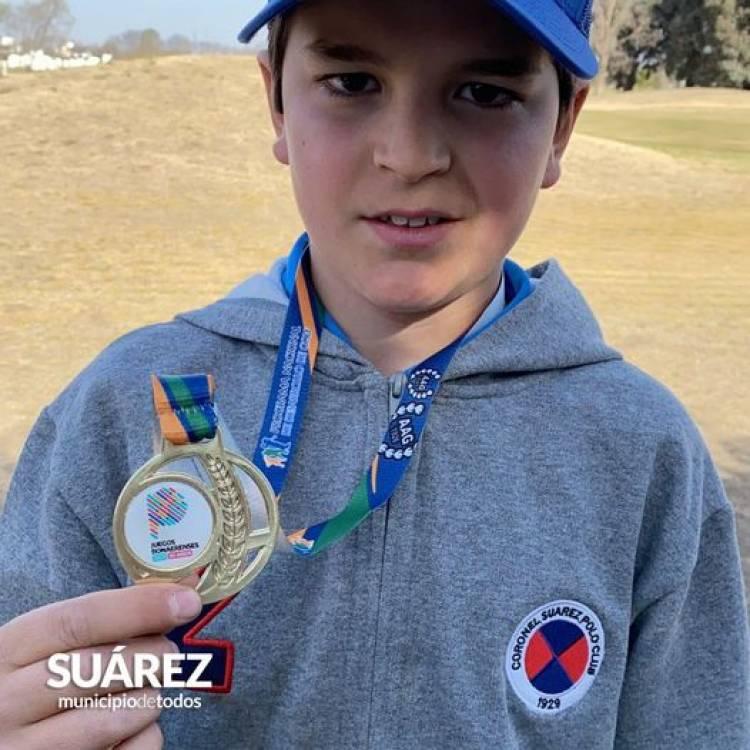 Pedro Perego representará al distrito en la disciplina golf en la final provincial de los Juegos Bonaerenses⠀