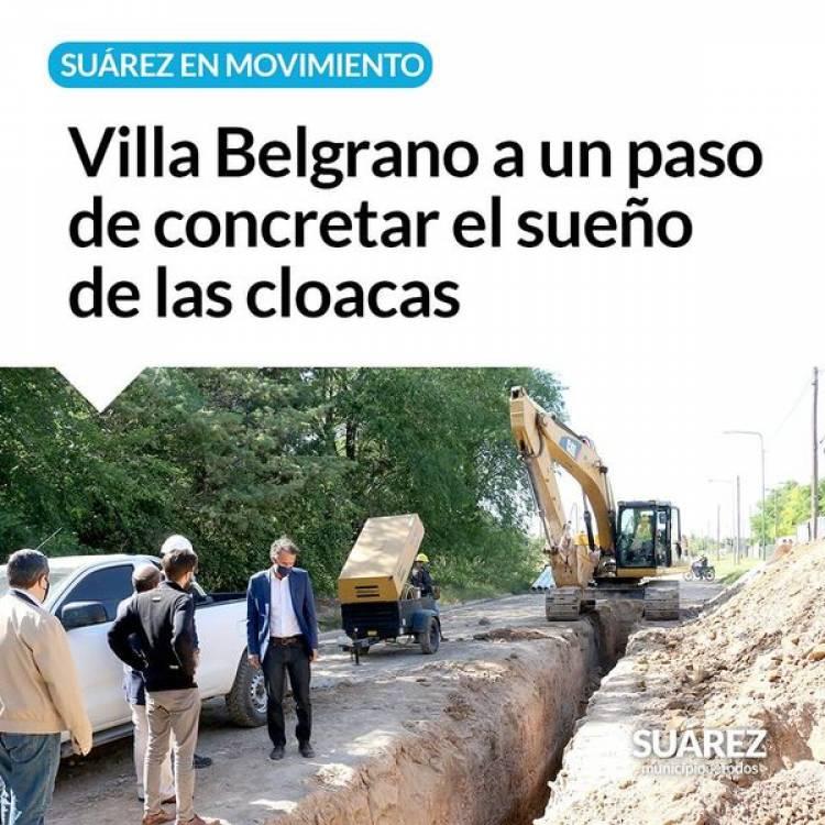 Villa Belgrano a un paso de concretar el sueño de las cloacas