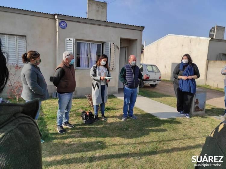 Moccero se reunió con vecinos y vecinas de barrio San Cayetano