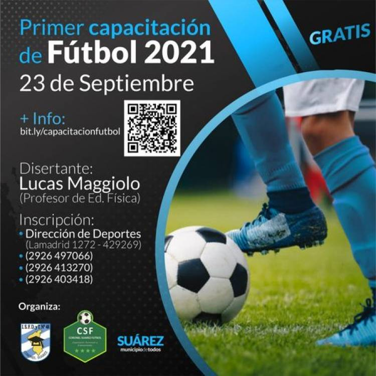 Primer capacitación de fútbol 2021
